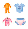 baby clothes icon set cartoon style vector image vector image