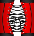 background red black corset vector image vector image