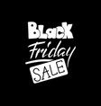black friday sale lettering hand drawn text to vector image