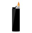 Black pocket lighter vector image vector image