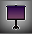 blank projection screen violet gradient vector image vector image