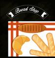 bread shop baguette croissant blanket poster vector image