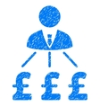 Businessman Pound Expenses Grainy Texture Icon vector image vector image