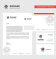 cart setting business letterhead envelope and vector image vector image