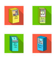 cash machine for cash terminal for payment vector image vector image