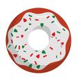 christmas donut dessert vector image vector image