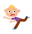 color of a sad boy running vector image