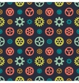 Colored gears seamless pattern vector image vector image