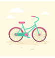 Colorful flat elegant bicycle vector image vector image