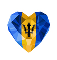 crystal gem jewelry Barbadian heart with the flag vector image