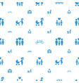 daughter icons pattern seamless white background vector image vector image