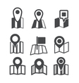 Different map web icons vector image vector image