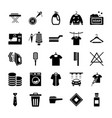 dry cleaning laundry solid icons vector image vector image