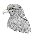 Eagle coloring page vector image vector image