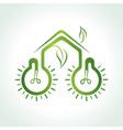 eco home concept vector image vector image