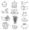 Element thanksgiving set on doodles vector image vector image