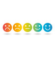 emoji colored flat scale icons set vector image vector image