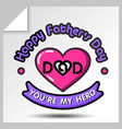 fathers day icons 13 vector image