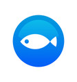 fish icon - round emblem for fish shop or vector image
