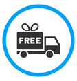 free shipment rounded icon vector image vector image