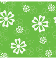 green seamless pattern with flora vector image vector image