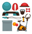 gym or fitness center sport equipment and vector image vector image