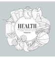 Healthy Lifestyle Vintage Sketch vector image