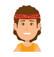 hippie man cartoon vector image vector image