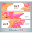 Internet banners set with polygonal abstract back vector image vector image