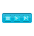 isolated media web button vector image