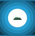 isolated mountain flat icon peak element vector image