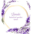 lavender gold wreath card watercolor flowers vector image vector image