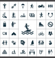 lifestyle icons universal set for web and ui vector image