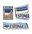 logo for estonia vector image vector image
