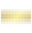 mail envelope golden halftone effect vector image