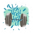 motivational message retro style you vector image vector image