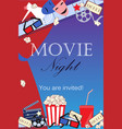 movie background with cinema attributes vector image vector image