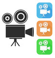 movie filming old retro camera colored icons vector image