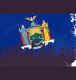 new york state flag with audience vector image vector image