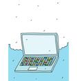 Notebook Doodle vector image