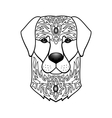 Ornamental White Dog vector image vector image