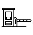 parking barrier icon outline style vector image vector image