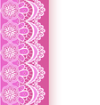 pink background with a strip of lace and place vector image vector image