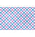 pink blue check diagonal fabric texture vector image vector image