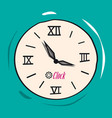 retro analog flat clock vector image