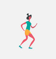 running woman cartoon character sportswoman vector image