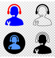 service operator eps icon with contour vector image vector image