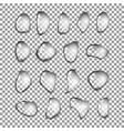 set realistic water drops isolated vector image