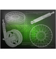 shock absorber and wheel vector image vector image