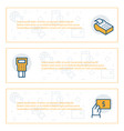 simple banners set payment items vector image vector image